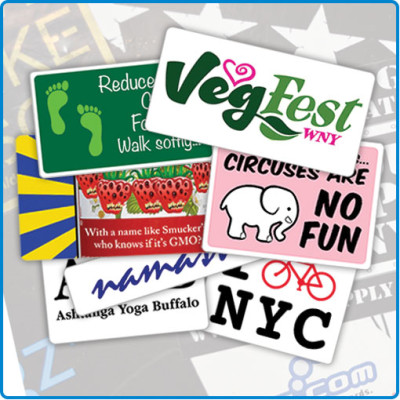 custom stickers for non-profits charities