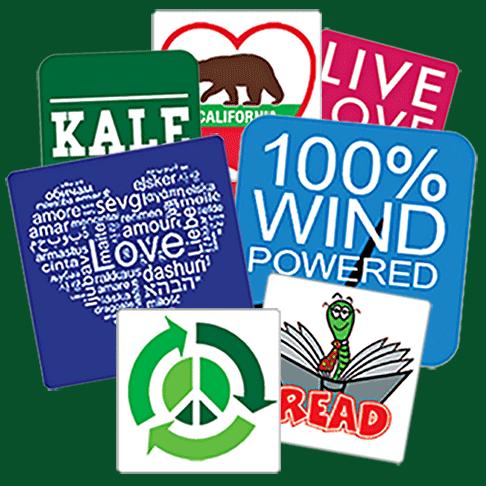 custom square stickers printed