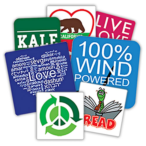 custom square stickers